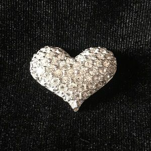 Swarovski Crystal Heart Brooch